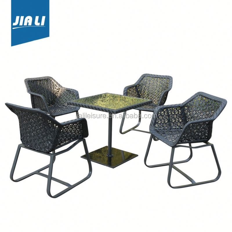 Great durability factory directly patio round dining table and chair