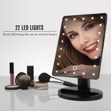 antique electric compact magnifying 16/22 led lights makeup mirror