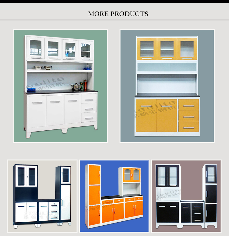 Manufacturer Direct Price Godrej Steel Whole Kitchen Cabinet Set Design Wall Cupboard With 3