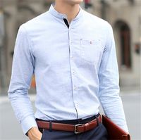 H30031C Factory Direct Clothing High Quality 100% Cotton Long Sleeve Men Shirt