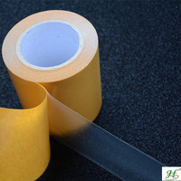19mm X 50M Transparent Double Sided PET Heating Film With Adhesive Tapes
