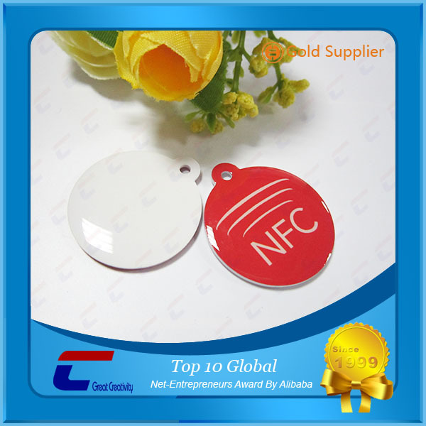 Waterproof RFID Tag Small Epoxy PVC Cards 13.56Mhz NFC Stickers