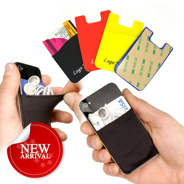 colorful newest smart sticker holder silicone cell phone card holder