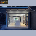 Tempered glass aluminum sound proof screen folding patio door