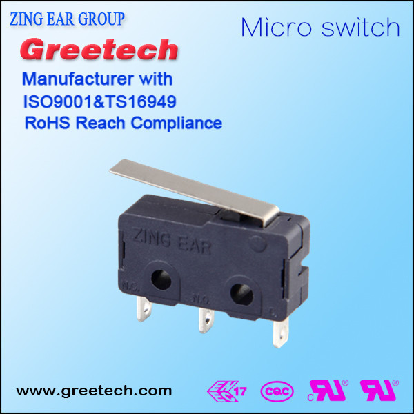 25t125 IP67 Sealed 125V black/grey factory price Golbal safety approvals subminiature snap action micro switch