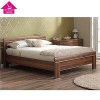 Family Double Bed Furniture Wood Double Bed for Children and Adult