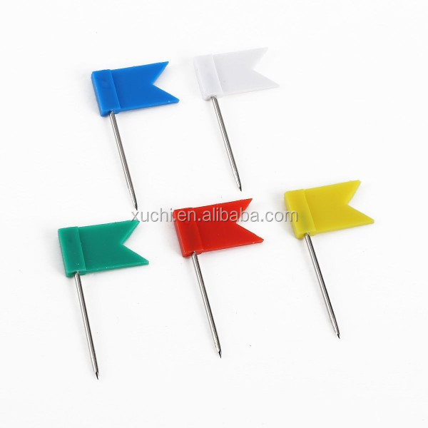 colorful flaged shape map pins