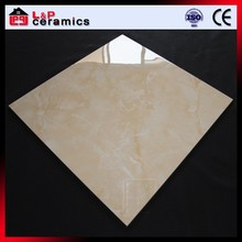 yellow jade anti-dirty marble look porcelain tile for school and hospital