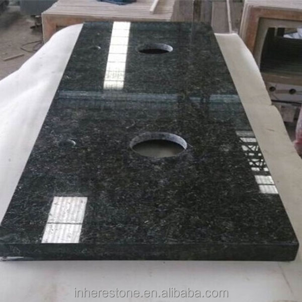 Butterfly green granite wash basin counter tops