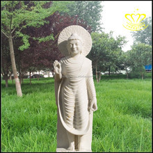 Custom white marble stone statues of Buddha Temple exquisite marble