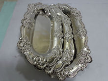 Brass Tray embossed Nickel / Silver plated