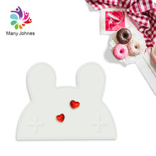 Kids Cartoon Rabbit Shape Silicone Placemats For Baby