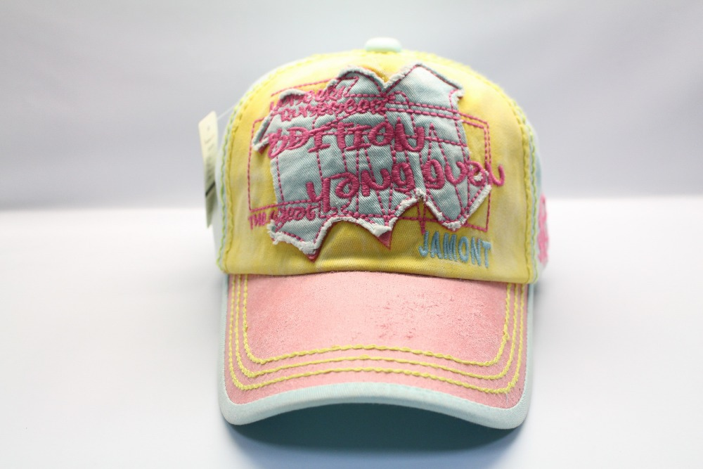 New arrival fashion light color embroidery baseball caps and hats with thick stitching