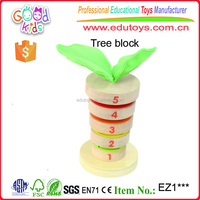 Best Selling European Beech Wood Stacking Blocks Set Preschool Kids Toys