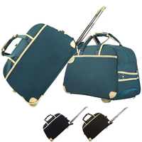 foldable polyester duffle travel trolley bags luggages