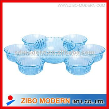 7pc glass bowl set/Glassware