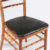 Gold Color PU Artificial Leather Fabric Chiavari Chair Seat Cushion
