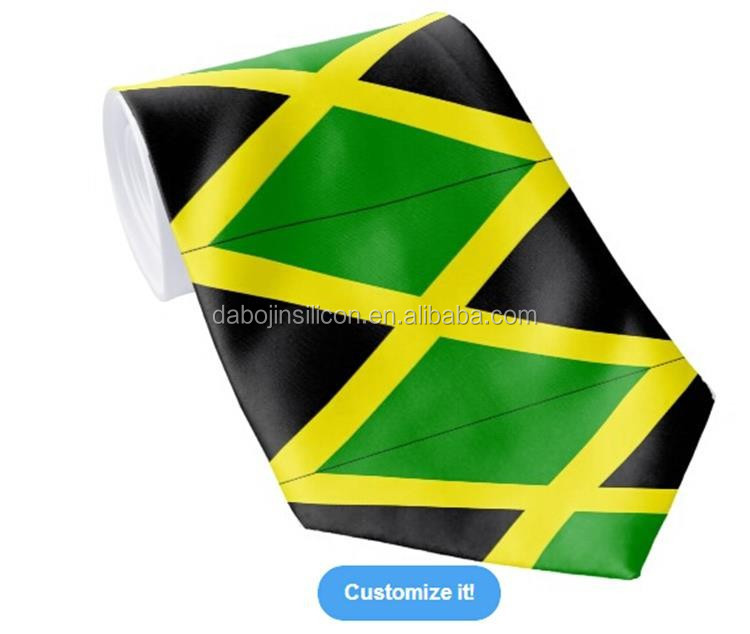 Cotton Beautiful Customised Design Jamaica flag <strong>tie</strong>