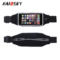HAISSKY Universal Sports Waist Bag Custom Running gym Waterproof Outdoor Pouch Case For iphone 6 6S Smartphone