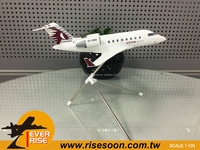 Airplane model BOMBARDIER CL-605 QATAR Scale 1:100 Business jets Model