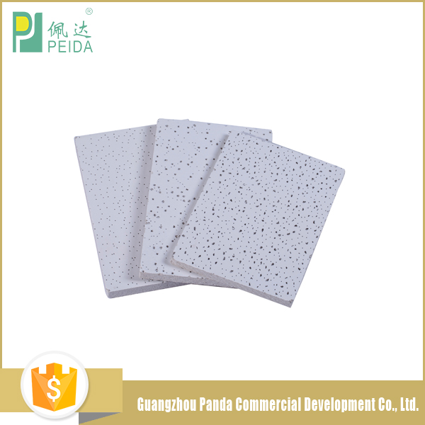 Fine Fissured Suspended Acoustic Mineral Fiber Board Ceiling Tiles