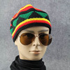 Colorful winter bonnet hat customized hand made knitting beanie hat