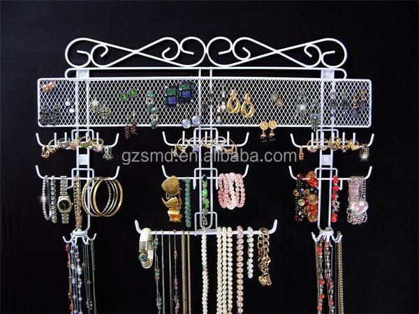 Purchase Large Wire Metal Wall Mounted Display Rack for Jewelry Holder