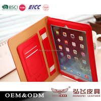 PU book cover for ipad Air Tablet case kickstand