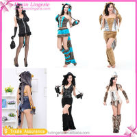 Hot sexy woman furry animal costume