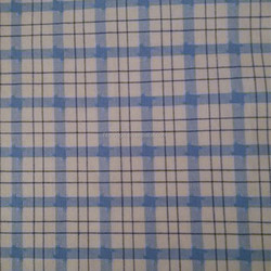 100 cotton light weight woven yarn dyed gingham checks blue white fabric 50S