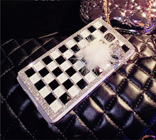 High class crystal rhinestone diamond studded cell phone case with aluminum material for iphone5/6/6plus cover