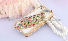 Super Luxury Crystal Bling Leather Case Cover For Apple Iphone4S 4G With Retailer Fashion Boxes 12 Colors