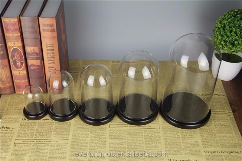 Promoção de fábrica de Venda Quente de Vidro Transparente Tampa De Vidro Transparente Dome Cloche Vidro Personalizado