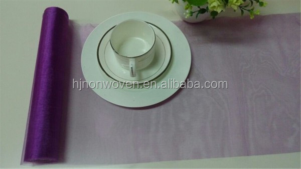 Fancy sheer organza table runner
