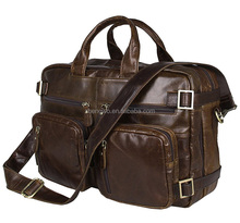 Iblue BR034 Convertible Leather Backpack Business Laptop Messenger Briefcase Dimensions 15 in