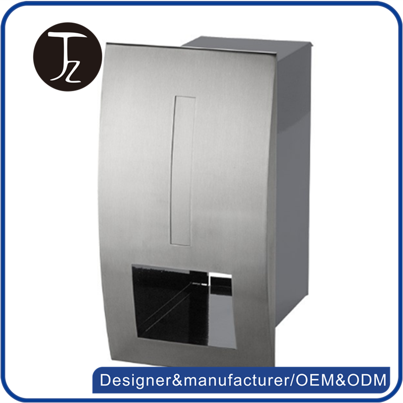 Modern design cast iron mailbox post wall embedded stainless steel japanese mailbox