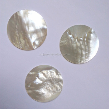 50mm Natural White Round Mother Pearl Shell Disc MOP Cabochon