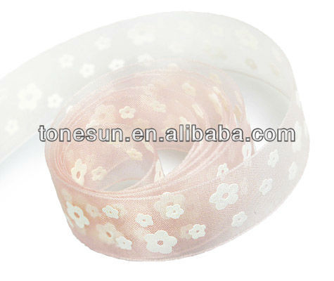 China hot Peach Pink Wholesale Celebrate it DecoratIve Ribbon Flowers For Flowerpot Decoration
