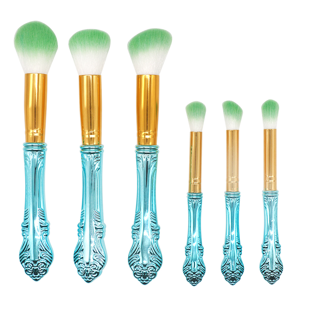 Special Design Blue 6 Piece Synthetic Hari Knight Makeup Brush Set