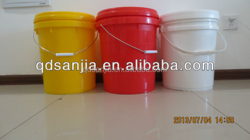 Wholesales 20L Colored Cheap With Handles And Lids Plastic Pail Bucket with logo