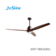 52 Inch modern luxury energy saving efficiency solid wood blade AC DC decorative ceiling fan with LED light