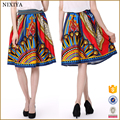 Wholesale Top Quality Latest Design Printed Satin Lady Fashion Skirt