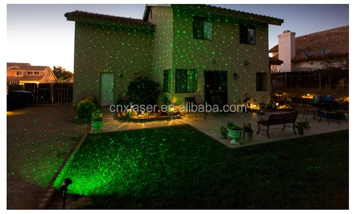 Outdoor Chirstmas lawn star laser projector shower light moving shower projector holiday lighting