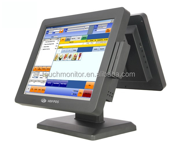 Brand new dual screen pos systems restaurant POS machine in low price