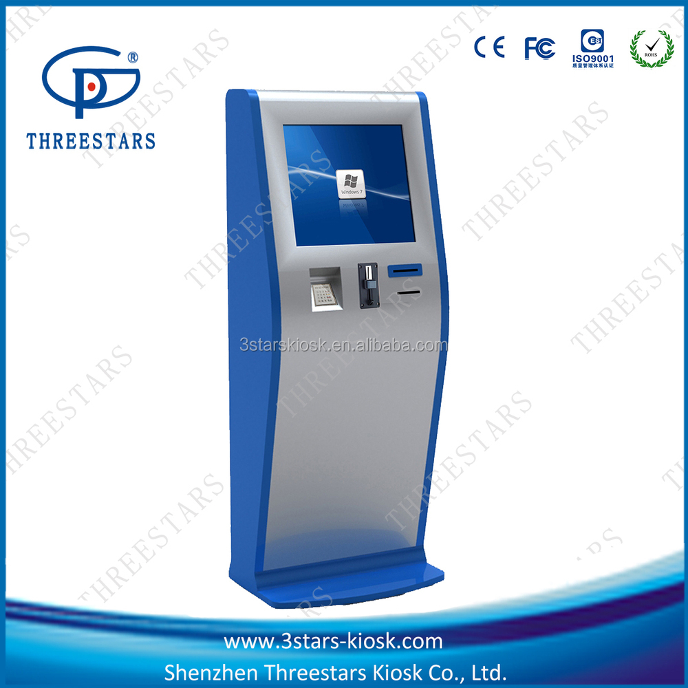 self-service Cash payment kiosk with bill accptor,card reader ,cash recycler