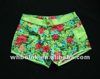 Ladies sex beach shorts pants printed ladies summer