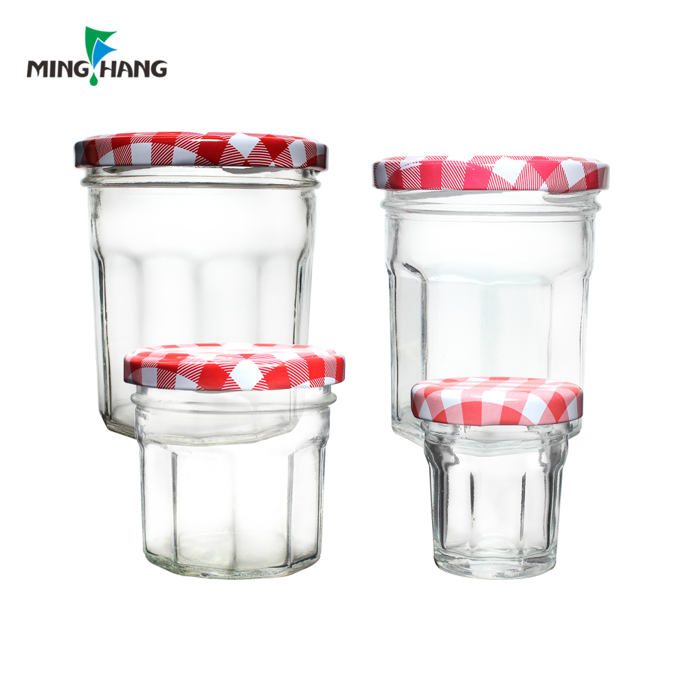 30ml 100ml 200ml 250ml Clear storage glass bottle glass food jam jar