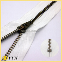 pull smoothness semi auto lock metal zipper for pants