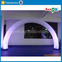 Cheap inflatable led rainbow gate arch for sale