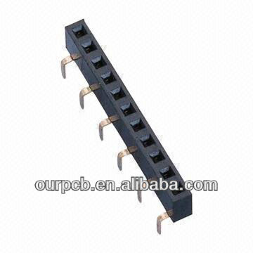 2.54mm Female Header, 2 x 40P, Bottom Entry Type, H=5.0
